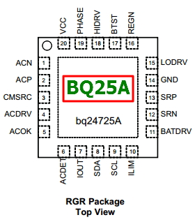 BQ25A datasheet pinout